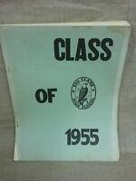 Vintage Eau Claire Class of 1955 reunion roster.