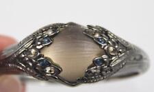 Alexis Bittar Ruthenium & Lucite Hinged Runway Bracelet w/ Marquis Crystals