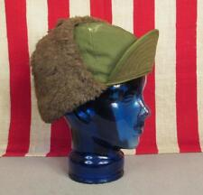 Vintage 1950s US Army OD Green MQ-1 Field Cap Hat Alpaca Lined 7 1/4 Korean War