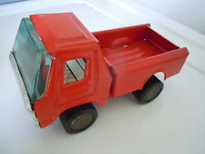 ANTIQUE RED METAL TOY PICKUP TRUCK CLOVER KOREA OLD VINTAGE NICE QUALITY