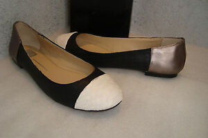 Dolce Vita Womens NWB Baca Blk Perforated Leather Flats Shoes 9 MED NEW