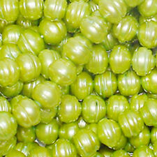 FWP LIME GREEN 9X8M RONDELLE FRESH WATER PEARLS T39