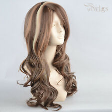 Wiwigs Beautiful Long Cocoa Mix of Brown & Blonde Wavy Ladies Wig