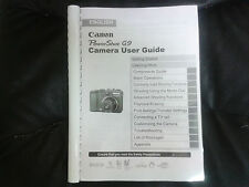 CANON POWERSHOT G9 FULL USER MANUAL GUIDE INSTRUCTIONS  PRINTED 274 PAGES