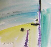 "JOSE TRUJILLO ORIGINAL Watercolor Painting Abstract Minimalist Expressionism 6"""