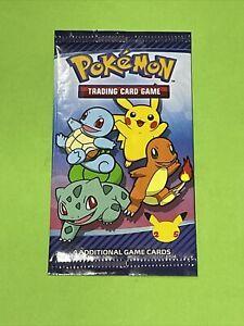 Pokemon Mcdonald's 25th Anniversary PROMO 1x Booster Pack + Pokemon Stickers