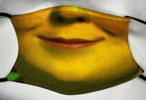 Fiona Ogre Shrek Funny Face Mask Covering Washable/Filter Gift Adult/Child