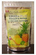 Linaza Powder Plus with Pineapple Moringa and Garcinia Cambogia 16oz Omega 3 XL
