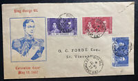 1937 Sion Hill St Vincent First Day Cover FDC Coronation King George VI KGVI