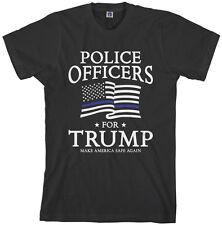 Threadrock Men's Police Officers For Trump T-shirt Republican
