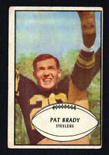 PAT BRADY  steelers     ROOKIE   1953 BOWMAN #10   VERY GOOD
