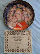 Edwin M. Knowles China The Angel's Message Collector's Plate