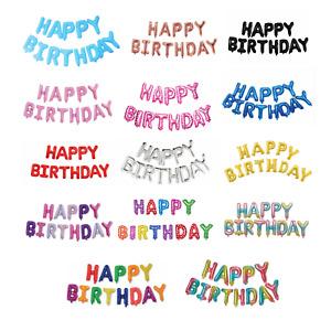 Happy Birthday Balloon Banner Happy Birthday Sign Home Decor Foil Balloon Party