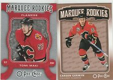1989 TO 2014...CALGARY FLAMES...LOT OF 114 CARDS...INCLUDES 8 RC'S