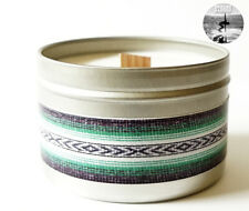 STOKED CANDLE COCONUT LIME TWIST ~ handmade 8oz soy candle tin, eco wooden wick