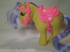 VTG MLP GREEK 80's EL GRECO MY LITTLE PONY G1, WITH SADDLE- EXCELLENT CONDITION.