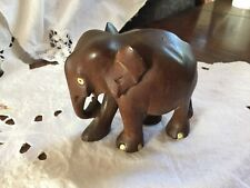 Antique Wooden Carved Indian Elephant