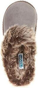 Floopi 305 Women Indoor Outdoor Aztec Grey Fur Lined Clog Warm Slippers XL 11-12