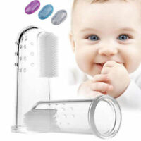 Clear Kids Infant Soft Silicone Finger Toothbrush Teeth Rubber Massager Brush