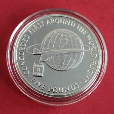CONCORDE 2006 GIBRALTAR SILVER PROOF £5 CROWN - first around the world flight