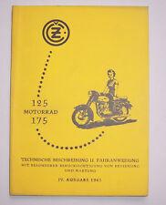 JAWA 125 ccm- 175 ccm Technische Beschreibung Fahranweisung 1961 IV Ausgabe !