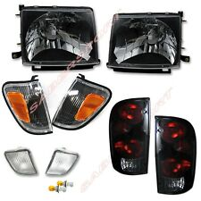 Set Of Black Headlights With Corner Taillights For 98 00 Tacoma 4wd Prerunner Fits 1998 Tacoma