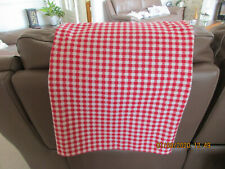 """VINTAGE RED GINGHAM CLOTH TABLECLOTH 66"""" X 51"""""""