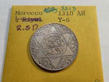 S213 Morocco 1310-AH 2 1/2 Dirhams