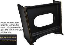 Amarillo Stitch Consola Parrilla Radio Envolvente De Cuero Skin Tapa se ajusta Mg Mgb temprana