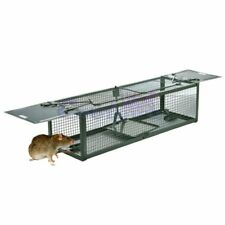 Humane Trap 2-Door Mouse Cage Trap For Chipmunk Rats Squirrels Voles Rodent Pest