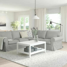 New IKEA cover set for Ektorp 4 seat [2+2] corner sofa in ORRSTA LIGHT GREY