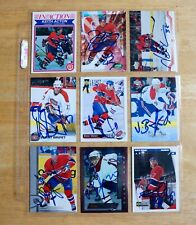 50 MONTREAL CANADIENS Team Signed Card Lot *KOIVU-THIBAULT-DAMPHOUSSE-CORSON*