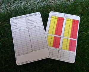 Schiedsrichter Notizkarten 100 Stück Fußball Spielnotizkarten vier Wechsel