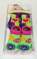 2 Pair Wonderkids Infant Booties 6-12 Months New & Boxed
