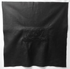 "Rare Embossed 7 & 7 # 43 and  # 3 Signature Black Cow Hide Leather 36"" x 36"""
