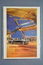 R&L Modern Postcard: Fly the Rolls Royce Way to London, British European Airways