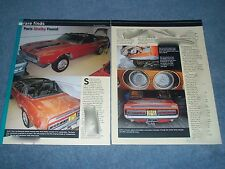 """1970 Shelby Convertible GT350 Barn Find Article """"Paris Shelby Found"""" Mustang"""