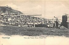 POSTCARD   SUSSEX    HASTINGS   The   Old  Town  from  West   Hill
