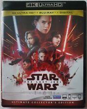 DISNEY STAR WARS THE LAST JEDI 4K ULTRA HD BLU RAY 3 DISC SET FREE SHIPPING