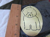 Brass Embossing Stencil -Bichon Frise