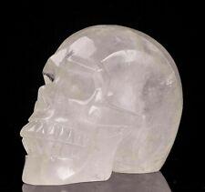 Crâne en cristal de roche de 1102 gr , minéraux , lithothérapie ; collection