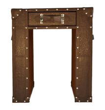 Beautiful Brown Croco Leather Designer Multipurpose 1 Drawer Bedside