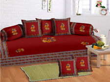 Indian Red Boho Mandala Diwan Set Diwan Cover Cushion Covers Bolster Covers