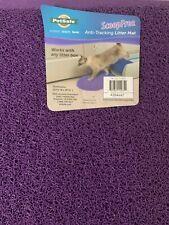 New listing Small purple cat litter box mat