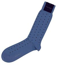 Ralph Lauren Purple Label Cotton and Nylon Socks Dots Light Blue Made in Japan