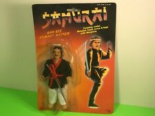 VINTAGE SAMURAI ACTION FIGURE MOC COMBAT MASTER TOY 1980s MOUSTACHE KITANA SWORD