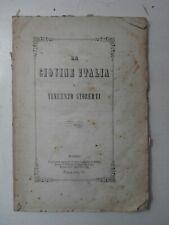 Rarissimo antico libro Massoneria La Giovine Italia e Vincenzo Gioberti 1849