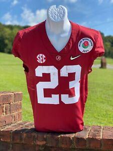 Roydell Williams Game Used & Signed Alabama Crimson Tide Jersey 2021 Rose Bowl