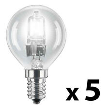 5 x SES E14 Energy Saving 42W   60W  Eco Halogen Clear Golf Ball Globe Bulbs