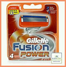 Gillette Fusion POWER Razor Blades - 4 Pack - 100% Genuine - FAST FREE POSTAGE